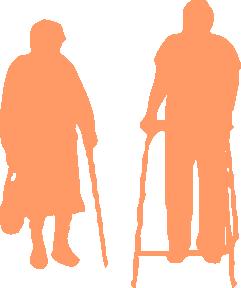 silhouette etapes vie vieux